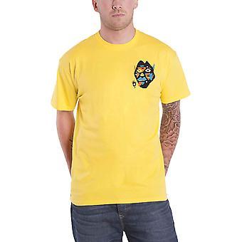 מלאך אבק חולצת יצור הלהקה לוגו חדש רשמי Mens צהוב