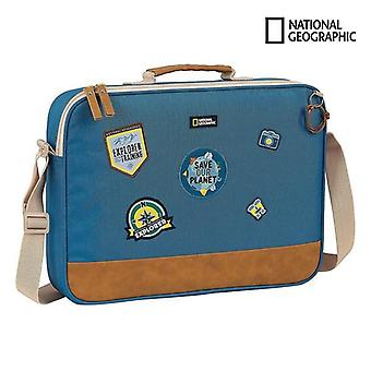 Briefcase national geographic explorer blue brown (6 l)