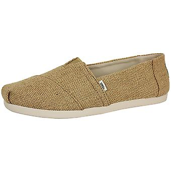 Toms men's natural alpargata burlap shoes