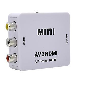Compatibil HDMI To AV 1080P Adapter-(3x RCA) NTSC/PAL