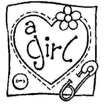 Un timbro montato sul legno di una ragazza