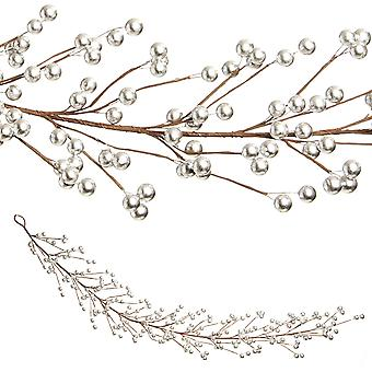 1.3m Berry Garland Christmas Home Floristry Decoration - Silver