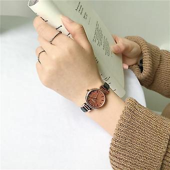 Casual Bracelet, Retro Vintage Leather, Quartz Wristwatches