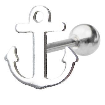 Rook tragus piercing 16g sea anchor design cartilage piercing barbell