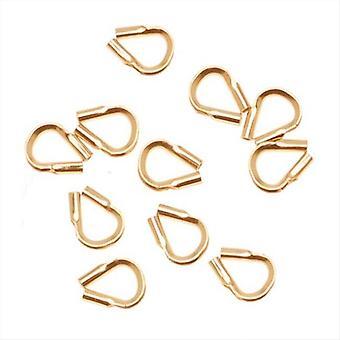 Wire & Thread Protectors, .019 Tuuman silmukat, 10 kappaletta, 14K kulta täytetty