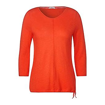 Cecil B315285 T-Shirt, Funky Orange, XL Woman