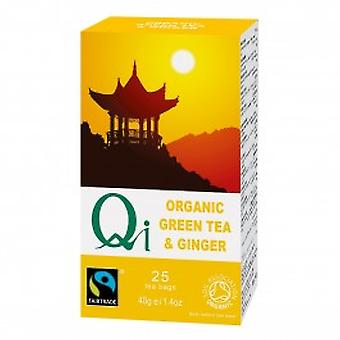 Qi Teas - Organic Green Tea & Ginger 25 Bag