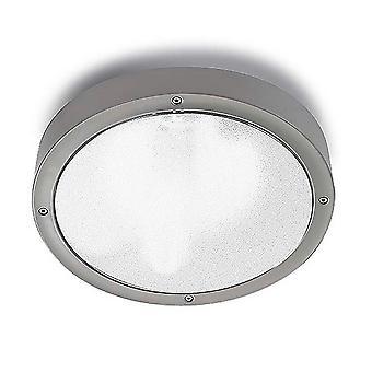 LEDS C4 Basic Technoploymer à '300mm Outdoor Simple Flush Large Grijs, Opal IP65 E27