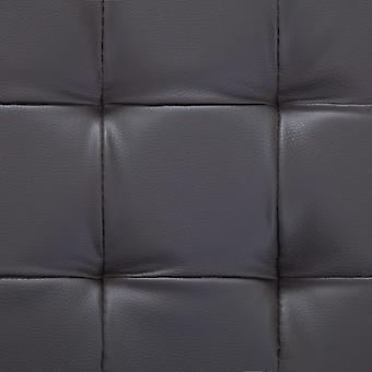 vidaXL Otomano con espacio de almacenamiento 87,5 cm Cuero de imitación gris
