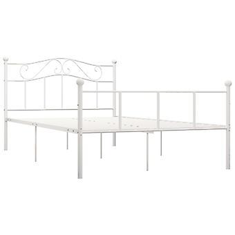 vidaXL Sängyn runko Valkoinen Metalli 140×200 cm