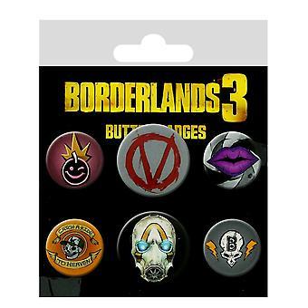 Borderlands 3-merker ikoner (svart)