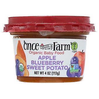 Once Upon A Farm Baby Food Apl Blubry Swpt, حالة 8 × 4 أوقية
