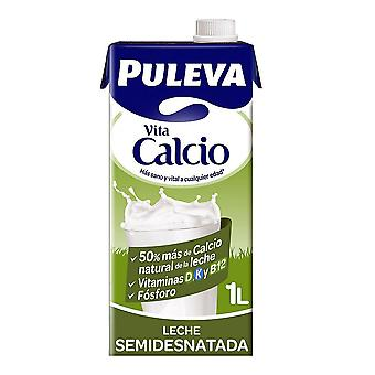 Latte parzialmente scremato Puleva Calcio (1 L)