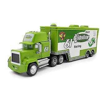 سيارات مقطورة Vitoline سباق سيارة رقم 61 شاحنة حاوية سبائك سيارة موديل ألعاب الأطفال