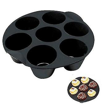 3 Pack Silicone Cake Cup Electric Air Fryer Backing Accessories Muffin Cake Basket With 7 Holes