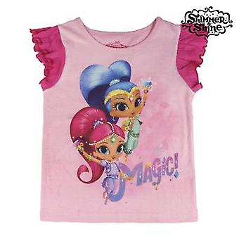 Child's Short Sleeve T-Shirt Shimmer and Shine 72771