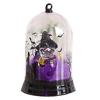 Swotgdoby Luminous Halloween Decoration, Lampshade With Pumpkin Witch Cat Creative Decoration