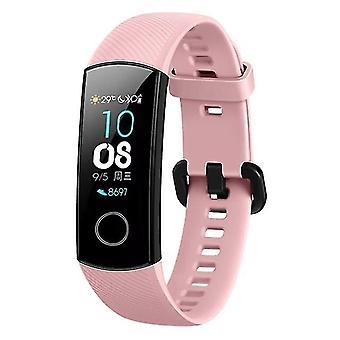 Correa de reemplazo de silicona conectada para Huawei Honor Band 4 rosa