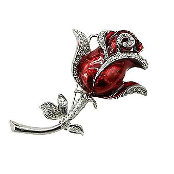 USB Flash Drive 128GB Crystal Rose Flowers Brooch Pendrive Memory Storage USB Stick Pen Drive for