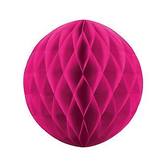 40cm Dark Pink Tissue Paper Honeycomb Ball Wedding Party Decoration
