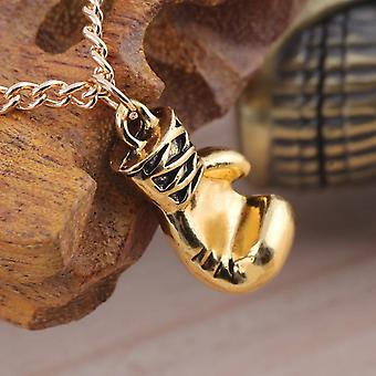 Men's Women's Stainless Steel Boxing Glove Pendant Necklace Chain