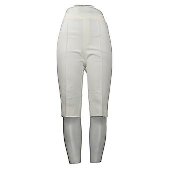 Isaac Mizrahi En direct! Petit pantalon pour femmes Poussoirs à pédales Pintucks Blanc A377473