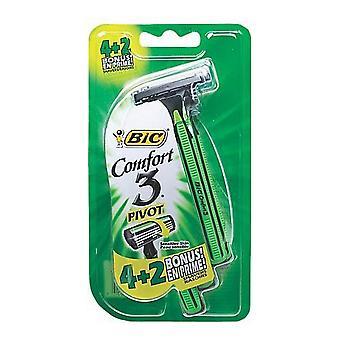Manual shaving razor Comfort 3 Pivot Bic (6 uds)