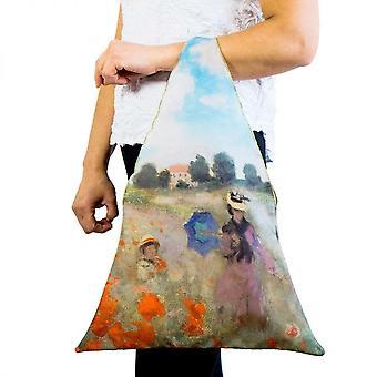 Tygkasse motiv konsten området vallmo Claude Monet