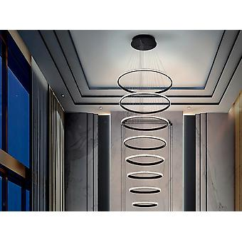 Schuller Ring Modern Designer LED Dimbare Ring Swirl Hanglamp Mat Zwart, Smartphone Bluetooth Dimbaar