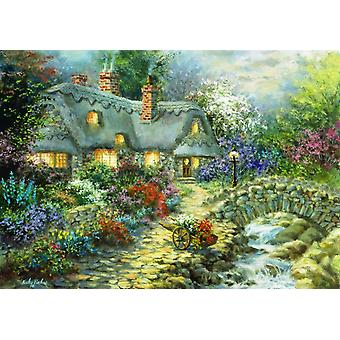 Bluebird Country Cottage Jigsaw Puzzle (1000 Pieces)
