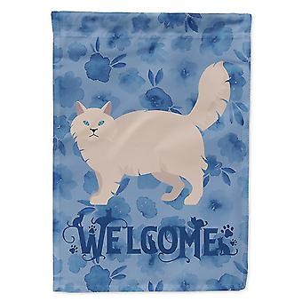 Flags windsocks carolines treasures ck4981chf siberian forest #2 cat welcome flag canvas house