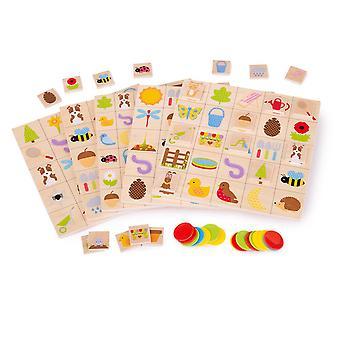 Educational Wooden Garden Bingo - Passendes Brettspiel