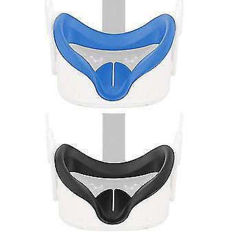 Cubierta de máscara de ojos para oculus quest 2 vr gafas de silicona anti-sudor anti-fugas luz cubierta facial almohadilla