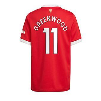 男子フットボールニュージャージーニュージャージーシーズンMnchester 2021-2022ユナイテッド#11グリーンウッドサッカージャージースポーツTシャツS-xxl