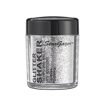 Abanador de gliter prata