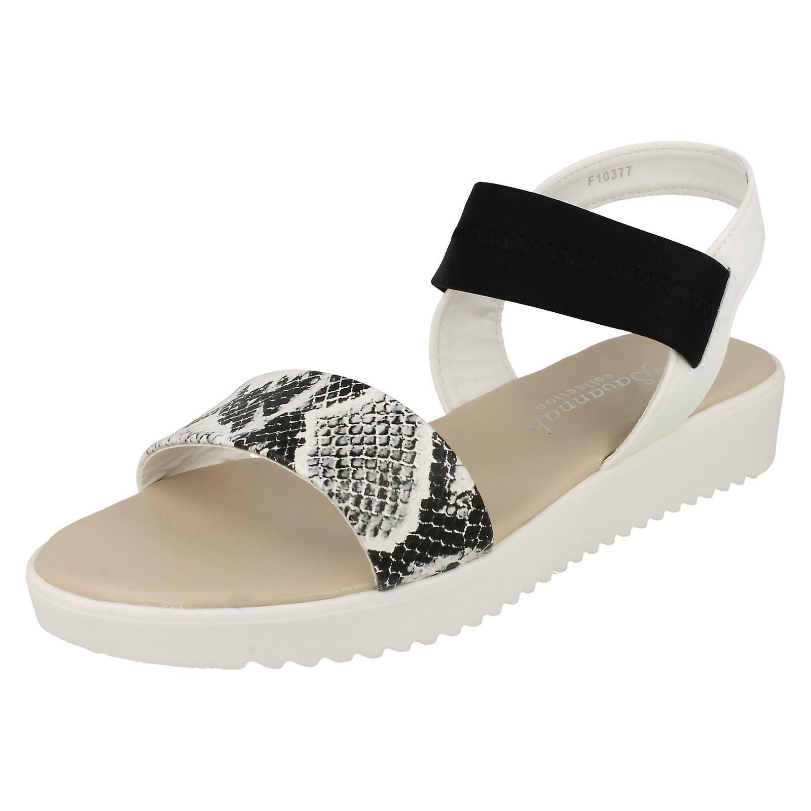 Savannah damskie masywny latem płaskie sandały lTgt4