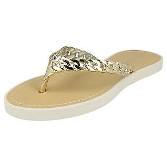 Ladies Savannah Toe Post Sandals With Upper Detailing