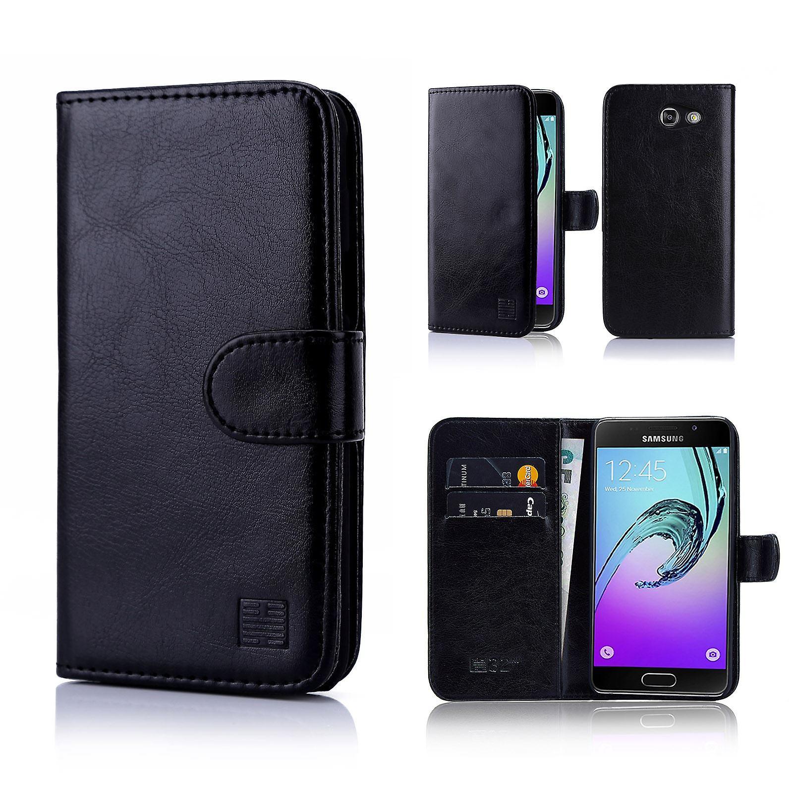 32nd Book wallet case + stylus for Samsung Galaxy J3 (2017) J327P - Black