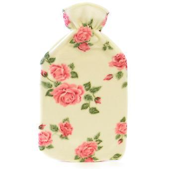 Kinderen kwaliteit zachte Floral gedrukte Fleece gedekt natuurrubber Hot Water Bottle
