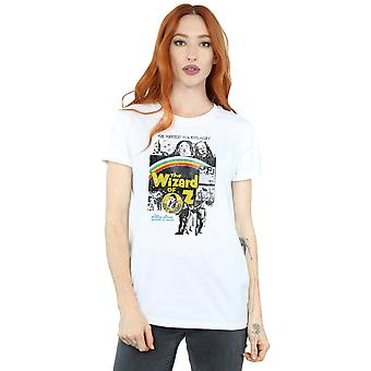 The Wizard Of Oz Women's Distressed Movie Poster Boyfriend Fit T-Shirt