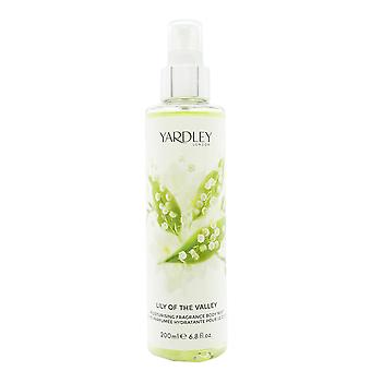 Yardley Lily of the Valley Fragrance Mist 200ml Spray
