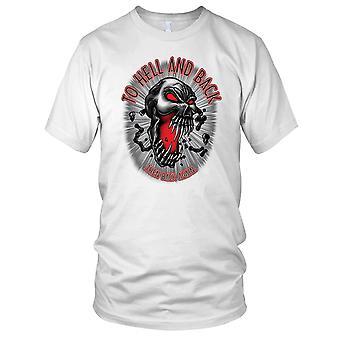 To Hell And Back - Biker Motorcycle Motorbike Hog Ladies T Shirt