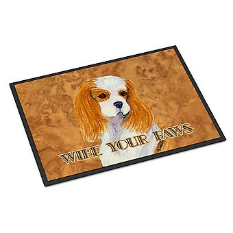 Blenheim Cavalier Spaniel Wipe your Paws Indoor or Outdoor Mat 18x27