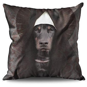 Dobermann Tier Funny Dog Leinen Kissen Dobermann Tier lustiger Hund | Wellcoda