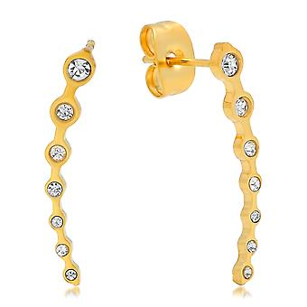 Ladies 18K Gold Plated Stainless Steel Delicate Ear Climber