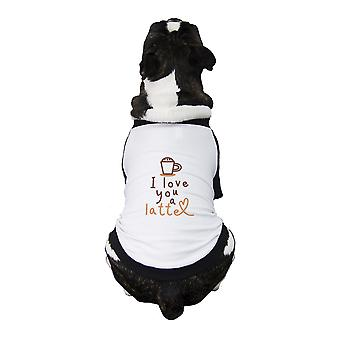 Love A Latte Pet Baseball Jersey Dog Pet Owner Gifts Small Dogs Clothes