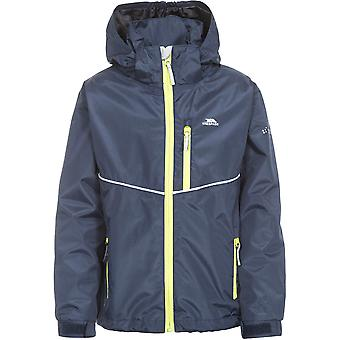 Trespass Boys Hattrick Waterproof Windproof Hooded Rain Coat Jacket