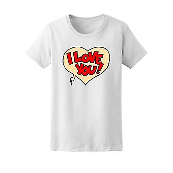 I Love You Comic Style Tee Women's -Image by Shutterstock