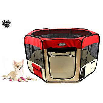 VALENTINA VALENTTI FABRIC FOLDING PET PLAY PEN ヨ SMALL ヨ RED - S - SMALL SIZE