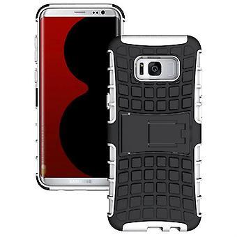 Hybrid tilfelle 2 stykke Koczian utendørs hvitt for Samsung Galaxy S8 pluss G955 G955F